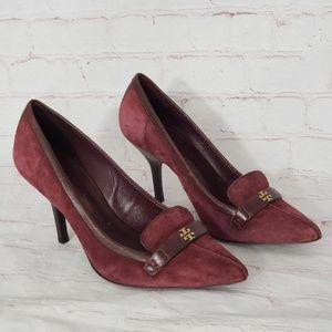 Tory Burch suede heels 7.5